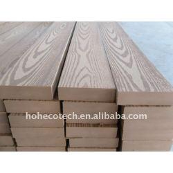goffratura superficie wpc decking di legno decking composito di plastica piastrelle in vinile piano di calpestio