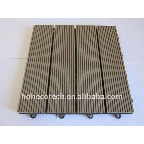 Madera/madera compuesto suelo/cubiertas a prueba de agua wpc azulejos