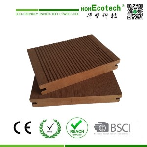 Outdoor waterproof unti-UV Brown Color 150mm Wood Plastic Composite Decking