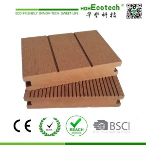 solid plastic composite decking