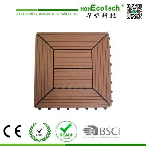 wood plasitc garden floor tiles