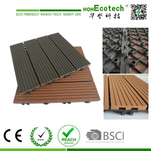 Easy Install WPC Square Decking Tile Pack