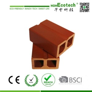 cheap solid wpc post, kneel, water proof wpc wood plastic composite ASTM REACH FSC CE APPROVED