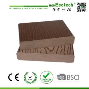 Easy installation low price water-proof wpc decking board (CE ROHS)