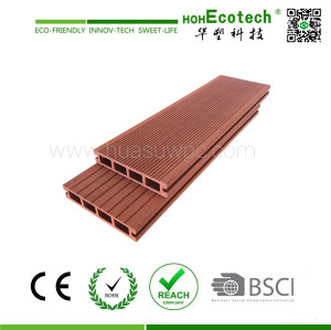 Wood Color Plastic Composite Decking for outdoor