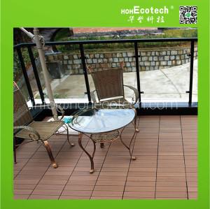 wpc diy garden tile interlocking decking
