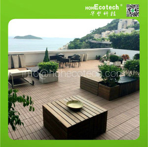 composite interlocking deck tiles