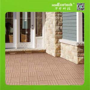 (CE)Huaus WPC Plastic wood tile/outdoor tiles for porchoutdoor tiles for porch