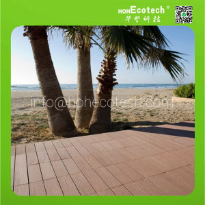 wood decking tiles WPC title outdoor tileflooring Composite Tile