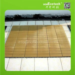 unti-slip interlocking plastic wood floor tiles