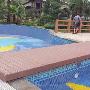 WPC above ground pool decks