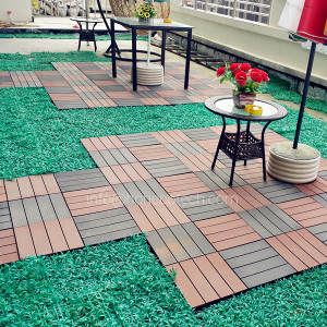 Eco-friendly wpc wood grain tile