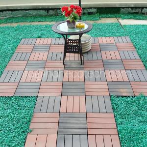 Huasu unti slip WPC laminate tile flooring