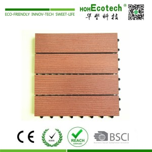 12*12 in wood grain decking tile for patio