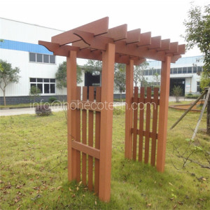 wood composite lumber pergola for garden