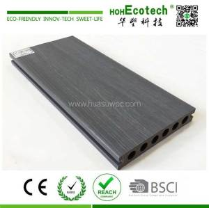 light gray capped composite decking
