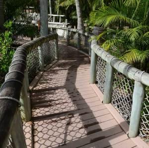 wpc composite deking and railing for bridge