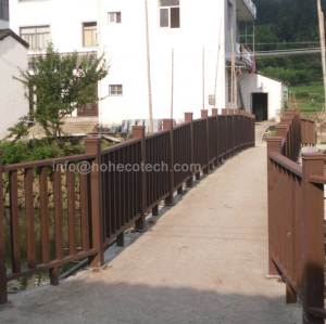 wpc decorative garden railing and fencing