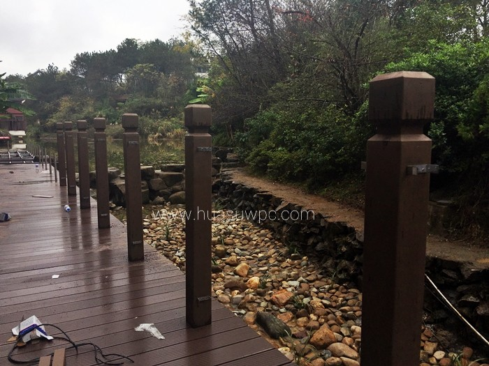 plastic lumber decking and  railing