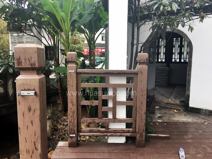 platelage et garde-corps en bois en plastique