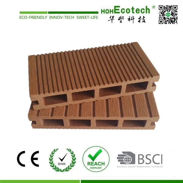im Freien hölzerner zusammengesetzter Deckingplastikfußboden/wpc/CE/Intertek/Reach/RoHS