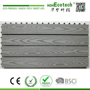Big size outdoor wpc composite diy deck tile