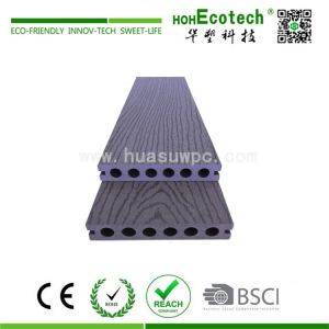 Non-slip wood plastic composite decking material