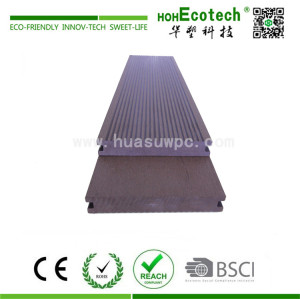 Landscaping decorative wood plastic composite decking material