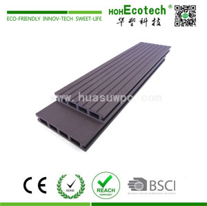 wood plastic composite walkway decking floor material