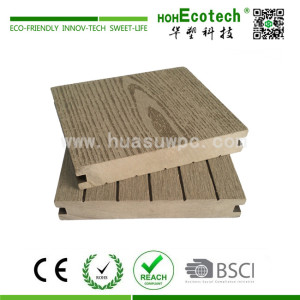 wood plastic composite patio decking floor material
