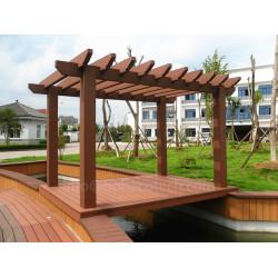 Nice design garden decorative wood plastic composite pergola