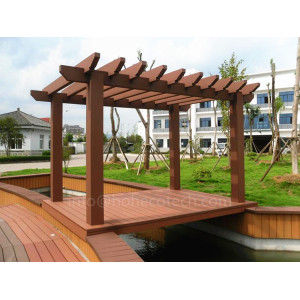 Nice design garden decorative wood plastic composite pergola