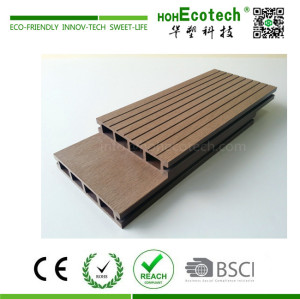 Anti UV non-fading wood plastic composite decking boards