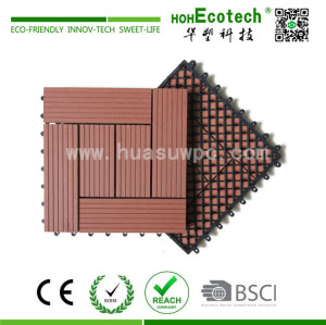 Easy install interlocking wood plastic composite diy deck tile