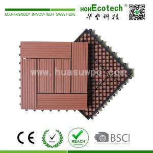 Easy install interlocking wood plastic composite diy deck tile