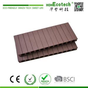250mm width groove wood plastic decking floor