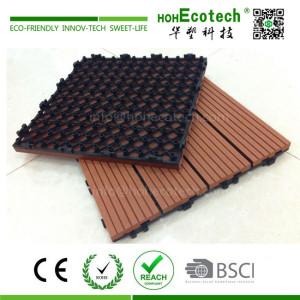 Hollow wpc panel light weight deck tile floor