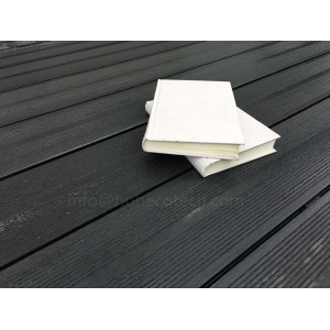 Wood-plastic composite outdoor decking floor material