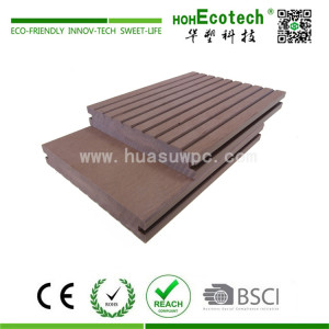 Outdoor rot-proof  durable wood plastic composite decking board