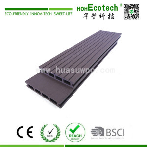 Grey color low price wood plastic composite decking