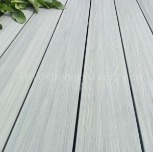 Outdoor ultra-low maintenance wood plastic composite decking