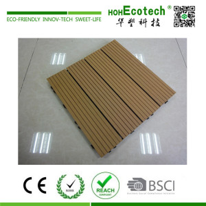 Nice interlocking wood plastic composite terrace deck tile