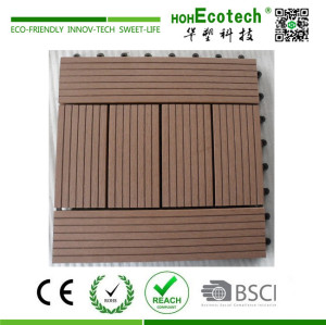 Nonslip plastic bathroom deck tile