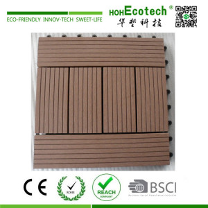 Nonslip plastic bathroom deck tile
