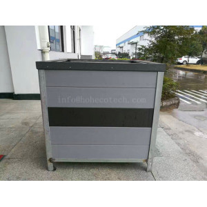 Co-extrusion wood plastic composite flower box