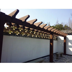 Weather-proof landscaping wpc composite pergola