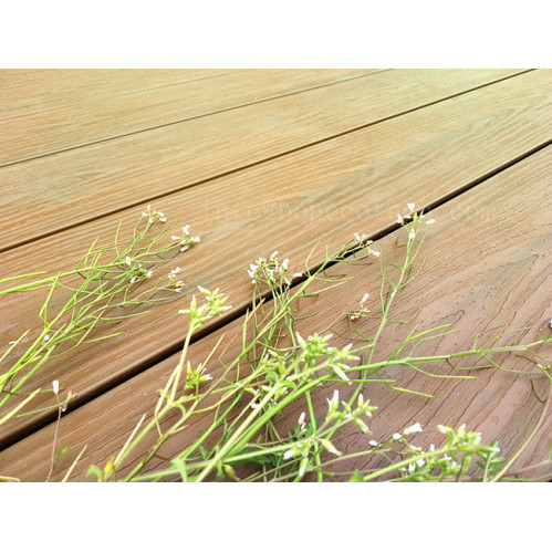 Mix color capped wood plastic composite decking china for Capped composite decking