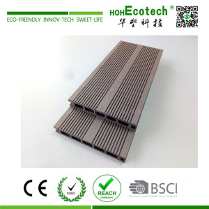 Low cost wooden patio decking