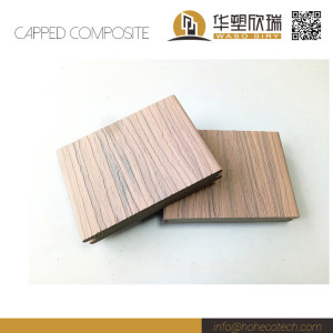 Wearable capped wood plastic composite decking