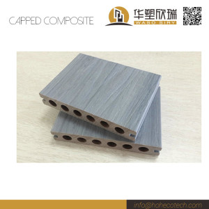 Hollow light weight capped composite decking